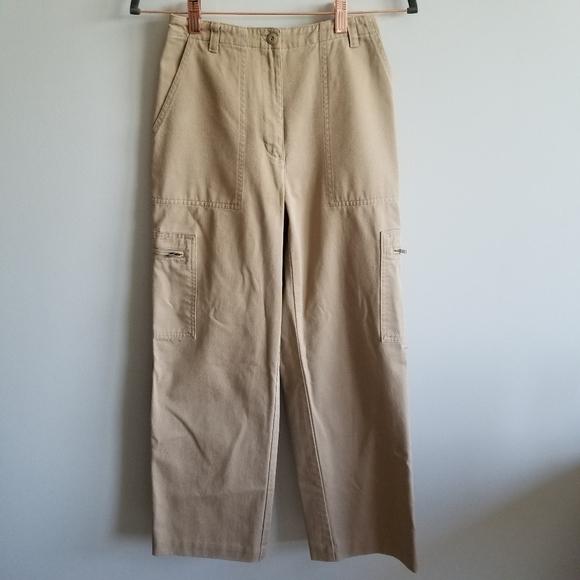 Lauren Ralph Lauren Pants - Lauren Ralph Lauren Petite Cargo Khaki Pants